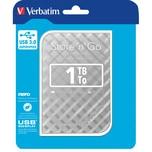 Verbatim Festplatte Store'n'Go 1 TB Nr. 53197 USB 3.0 silber