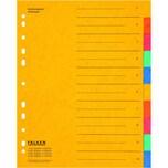 Falken Register A4 10-teilig blanko Nr. 11359312 Colorspankarton Überbreite