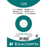 ExacomPTA Karteikarte A6 liniert weiß Nr. 10809se. PA= 100Stk