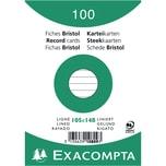 ExacomPTA Karteikarte A6 liniert weiß Nr. 10809se PA 100 Stück