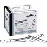 Durable Aktenklammer 77mm rund gewellt Nr. 122725. PA= 100Stk . verzinkt