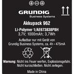 Grundig Akku 962 für Digta 7-Serie Nr. gcm9620 37V 1.00mAh Funkgeräteakku