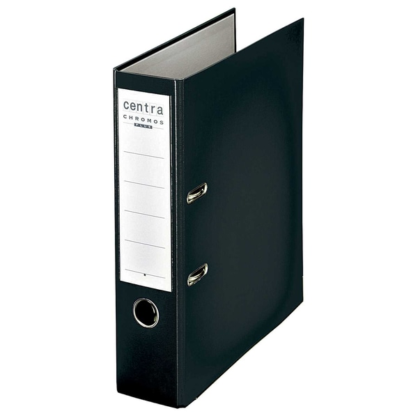 Centra Ordner CHROMOS A4 80mm schwarz 230130 Kunststoff Wechselfenster