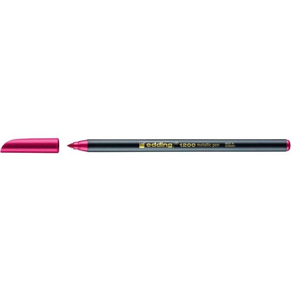 edding 1200 color pen metallic-rot
