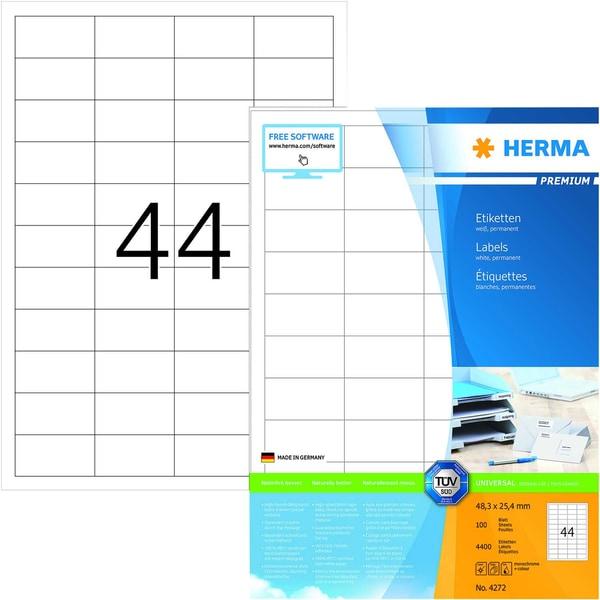 Herma Premium-Etikett Nr. 4272 weiß PA 4.400Stk 483 x 254mm bedruckbar