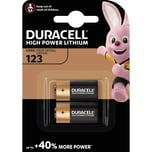 Duracell Batterie Photo 123 Ultra M3 Lithium. Nr.DUR020320. CR17345. 3V. 2Stk