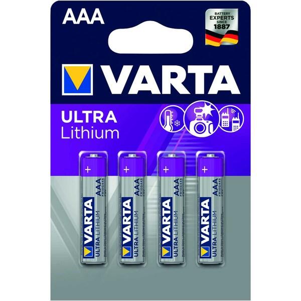 Varta Batterie Professional Lithium AAA Nr. 6103301404 15V LR03 1.100mAh4St