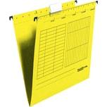 Falken Hängemappe seitlich offen gelb Nr. 11287786 PA 5 Stück 230g/m²