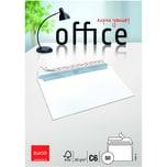 Elco Briefumschlag Office C6 haftklebend PA 50St hochweiß ohne Fenster 80g/m²