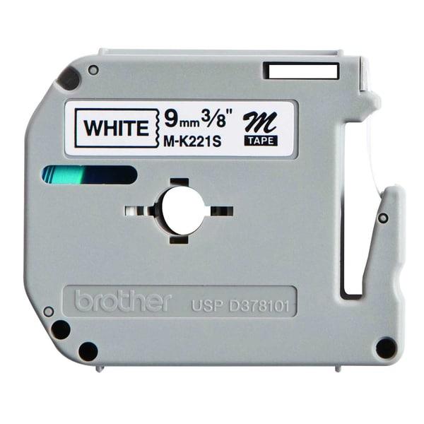 P-touch Schriftbandkassette MK 221 S BZ 9mm x 4m schwarz auf weiß