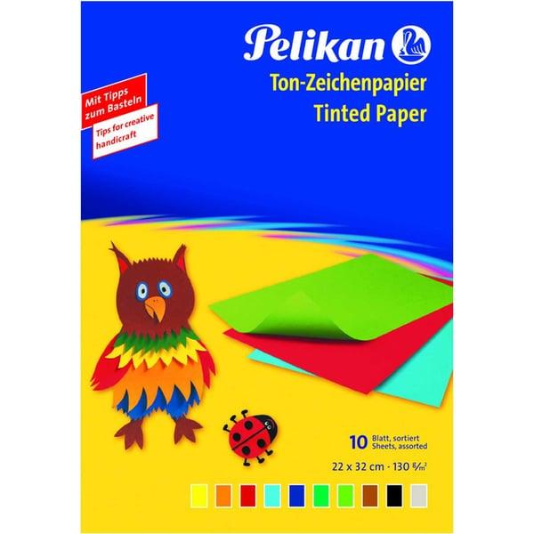 Pelikan Tonzeichenpapier 240 M 130g/m² Nr. 137968 farbig sortiert PA 10Blatt