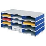 Styro Styrodoc Sortierstation trio mit 12 Fächern grau-blau