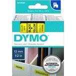 Dymo Schriftbandkassette S0720580 12mmx7m schwarz auf gelb45018 D1