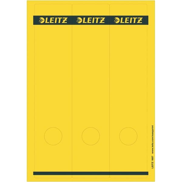 Leitz Rückenschild breit/lang gelb Nr. 1687-15 sk PA 75St bedruckbar
