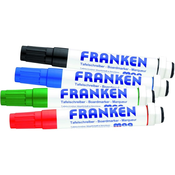 Franken Whiteboardmarker MagWrite Nr. Z1703 PA 4 Stück 1-3mm sortiert