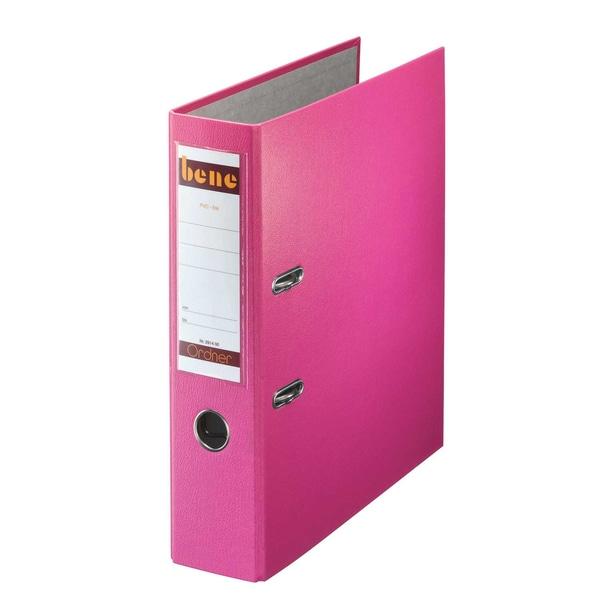Bene Ordner 80 mm A4 rosa PP 291400 RS mit WechselfensterKunststoff