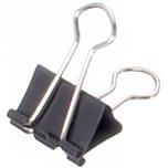 Maul Foldbackklemmer Mauly 19x7mm Nr. 2151990. schwarz. PA= 12Stk