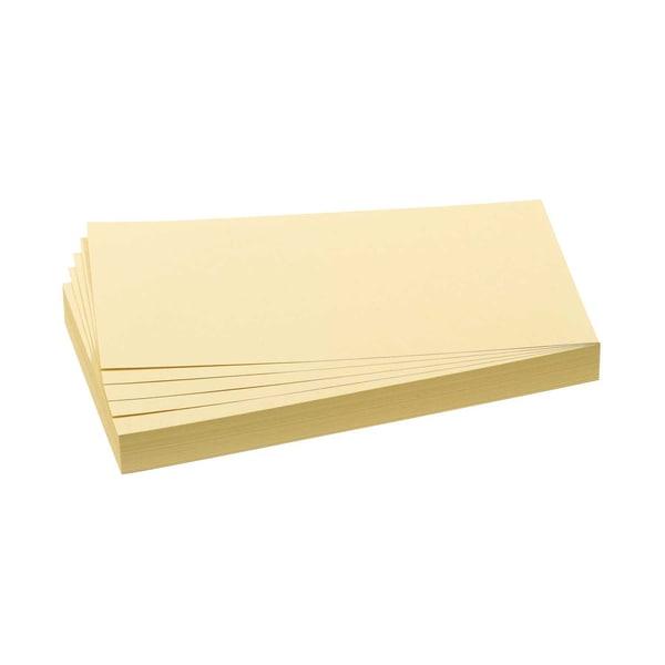 Franken Moderationskarte Rechteck gelb Nr. UMZ 1020 04 10x20cm PA 500Stück