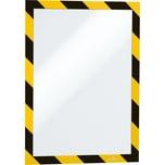 Durable Magnetrahmen Security sk A4 Nr. 49441-30 gelb/schwarz PA 2Stk