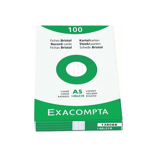 ExacomPTA Karteikarte A8 kariert weiß Nr. 3208B PA= 100 Stück
