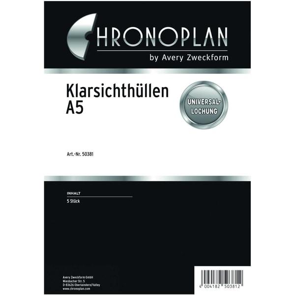 Prospekthülle A5 für CHRONOPLAN Nr. 50381 PA 5 Stück