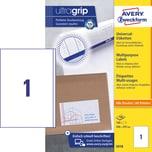 Zweckform Universal Etikett Nr. 3418 PA=100St weiß 200x297mm A4 bedruckbar