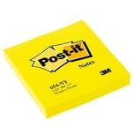 Post-it Haftnotiz 76x76mm neongelb 654NGE Block mit 100 Blatt