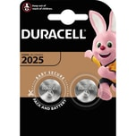 Duracell Knopfzelle CR 2025 Lithium Nr. 203907. 3V PA= 2Stk.