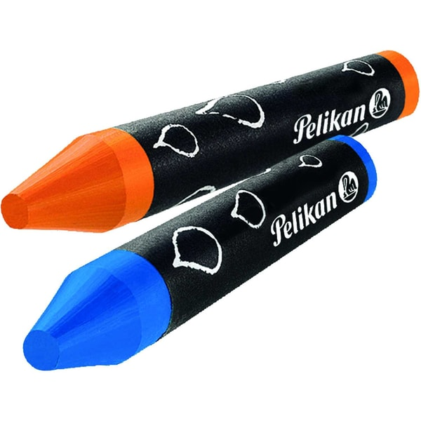 Pelikan Wachsmalstifte 8-farbig blau Nr. 722959 Spitze + Schaber