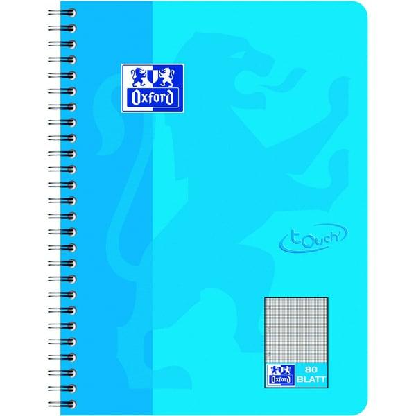 Oxford Collegeblock Touch B5 kariert Nr. 400086488 80 Blatt 90gm² meerblau