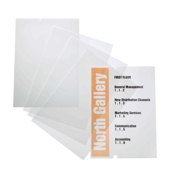 Durable CRYSTAL SIGN Einsteckfolie Nr. 4835-19 farblos PA10 Stück