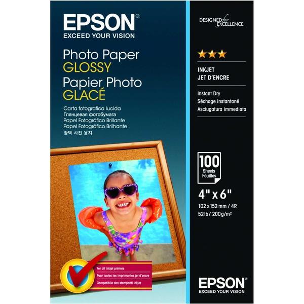 Epson Fotopapier glossy 10x15cm 200g Nr. C13S042548 PA 100 Blatt glänzend