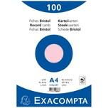 ExacomPTA Karteikarte A4 blanko rosa Nr. 10336E. PA= 100Stk