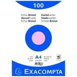 ExacomPTA Karteikarte A4 blanko rosa Nr. 10336E PA 100 Stück