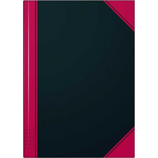 König & Ebhardt Kladde A5 kariert 96 Bl Nr. 865524301 Geschäftsbuch schwarz/rot