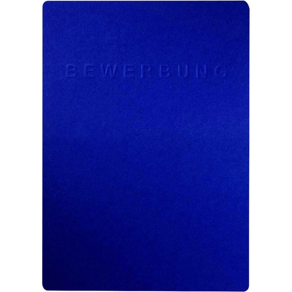 "Pagna Bewerbungsmappe Shift Karton 3-tlg Prägung ""Bewerbung"" blau"