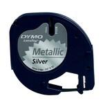 Dymo Etikettenkassetten-System S0721750 12mmx4m metallic silber Metallband