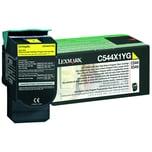 Lexmark Toner 0C544X1YG gelb Rückgabe f. C544 X544 4.000S.