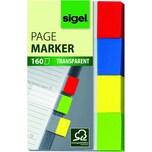 Sigel Haft-Marker transparent 20x50mm Nr. HN670 sortiert 4x 40 Blatt
