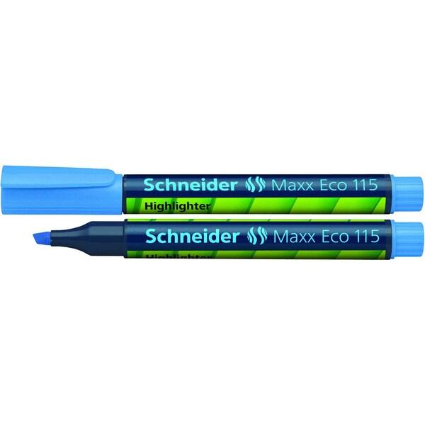 Schneider Textmarker Maxx Eco 115 blau Nr. 111503Keilspitze 1-4mm nachfüllbar