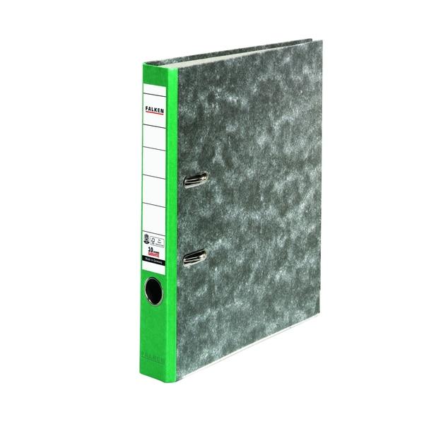 Falken Ordner Recycling A4 50mm grün Nr. 80023500 Wolkenmarmor Kantenschutz