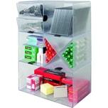 Deflect-o Organisationsbox Cube 350501 doppelt 1Fach glasklar
