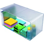 Deflect-o Organisationsbox Cube 350501 doppelt 1Fach glasklar