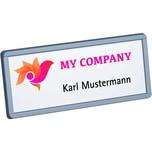 Unisto Etikett Clickstyle M Namensschild Nr. 37301 weiß PA 160Stk 72x26mm