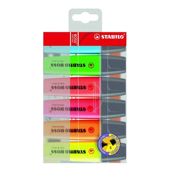 Stabilo Boss Textmarker sortiert Nr. 70/6 2-5mm PA 6 Stück