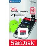 SanDisk Speicherkarte mSDHC Ultra 64 GB Android Mobile Nr. SDSQUAR-064G-GN6MA