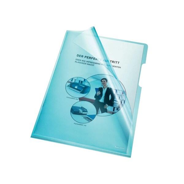 Bene Sichthülle A4 PVC/Hartfolie blau Nr. 205000 BL 150my PA 100Stk