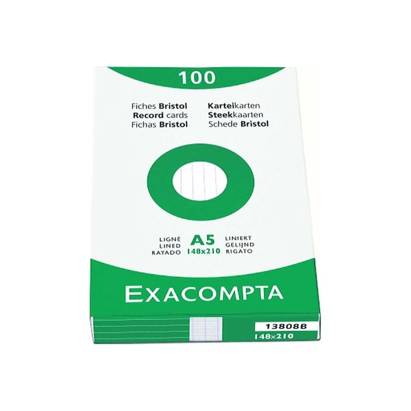 ExacomPTA Karteikarte A8 blanko weiß Nr. 3308B PA 100 Stück