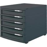 HAN Schubladenbox Contur grau/grau Nr. 1510-191 A4/B4/C4 5 Fächer