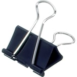 Maul Foldbackklemmer Mauly 13x32mm Nr. 2153290 schwarz PA 12Stk